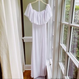 Fame and partners off the shoulder maxi